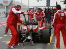 Ferrari perform pit stop practice
