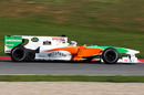 Adrian Sutil out on track in the Force India