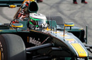 Heikki Kovalainen in the pits