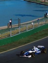 Damon Hill is the first man to win at the new Albert Park circuit