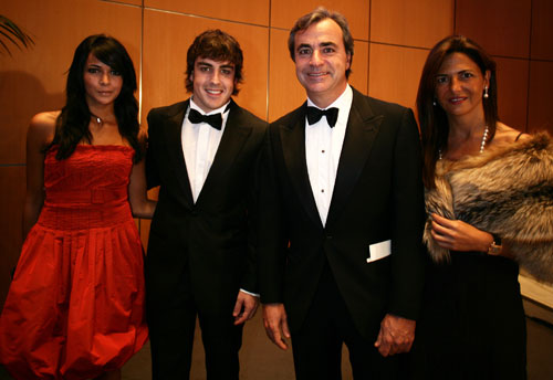 Fernando Alonso with rallying legend Carlos Sainz