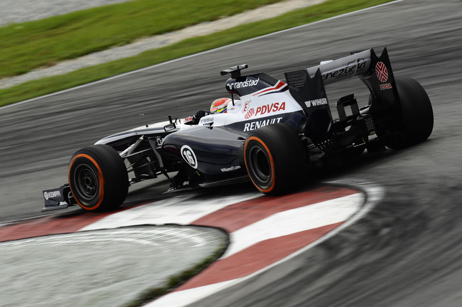 Pastor Maldonado on hard tyres