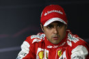 Felipe Massa in the post-qualifying press conference