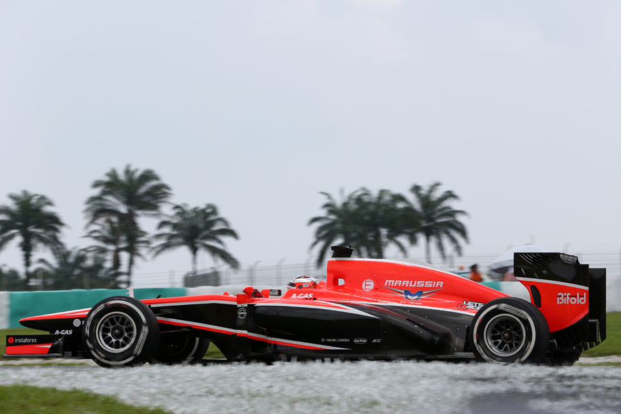 Jules Bianchi on the medium compound tyre