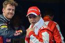 Felipe Massa and Sebastian Vettel in parc ferme