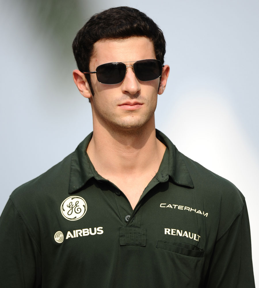 Alexander Rossi in the paddock