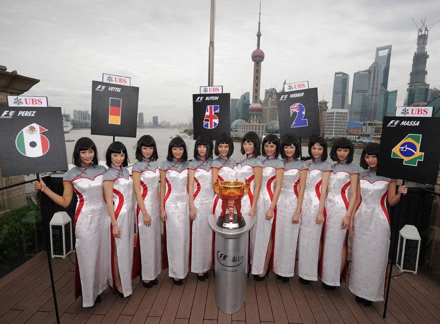A promotional photoshoot for the Chinese Grand Prix