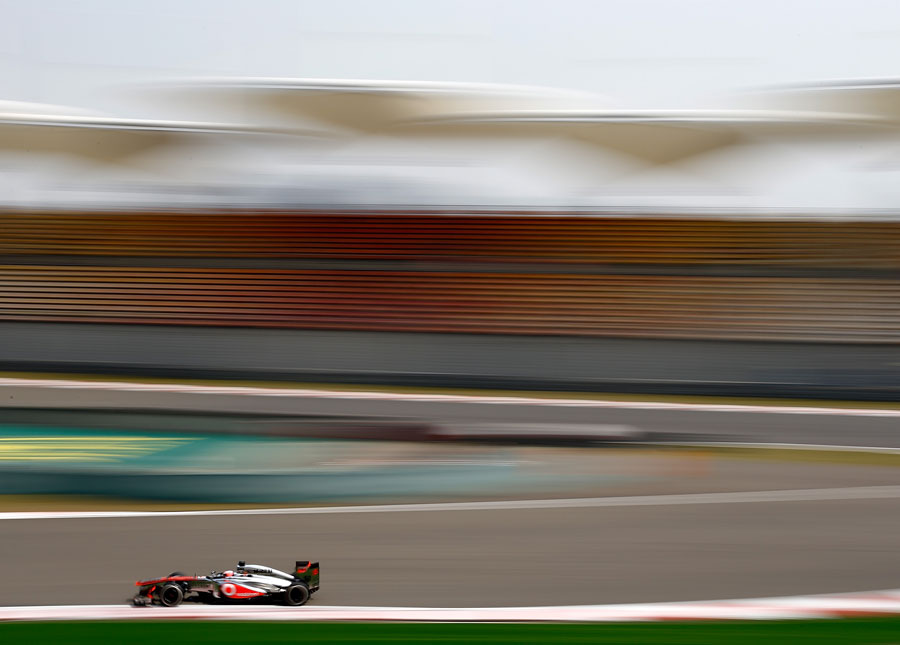 Jenson Button exits the turn 14 hairpin