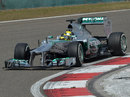 Nico Rosberg attacks the apex