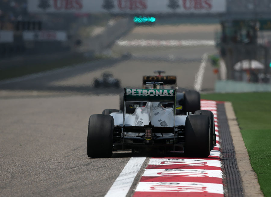 Nico Rosberg exits the final corner