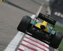 Giedo van der Garde exits the final corner
