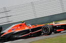 Max Chilton on track in the Marussia