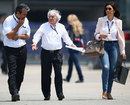 Bernie Ecclestone walks through the Shanghai paddock
