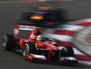 Felipe Massa leads Mark Webber on track