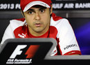 Felipe Massa in the press conference