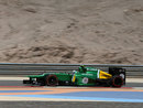 Heikki Kovalainen takes part in Friday morning practice for Caterham
