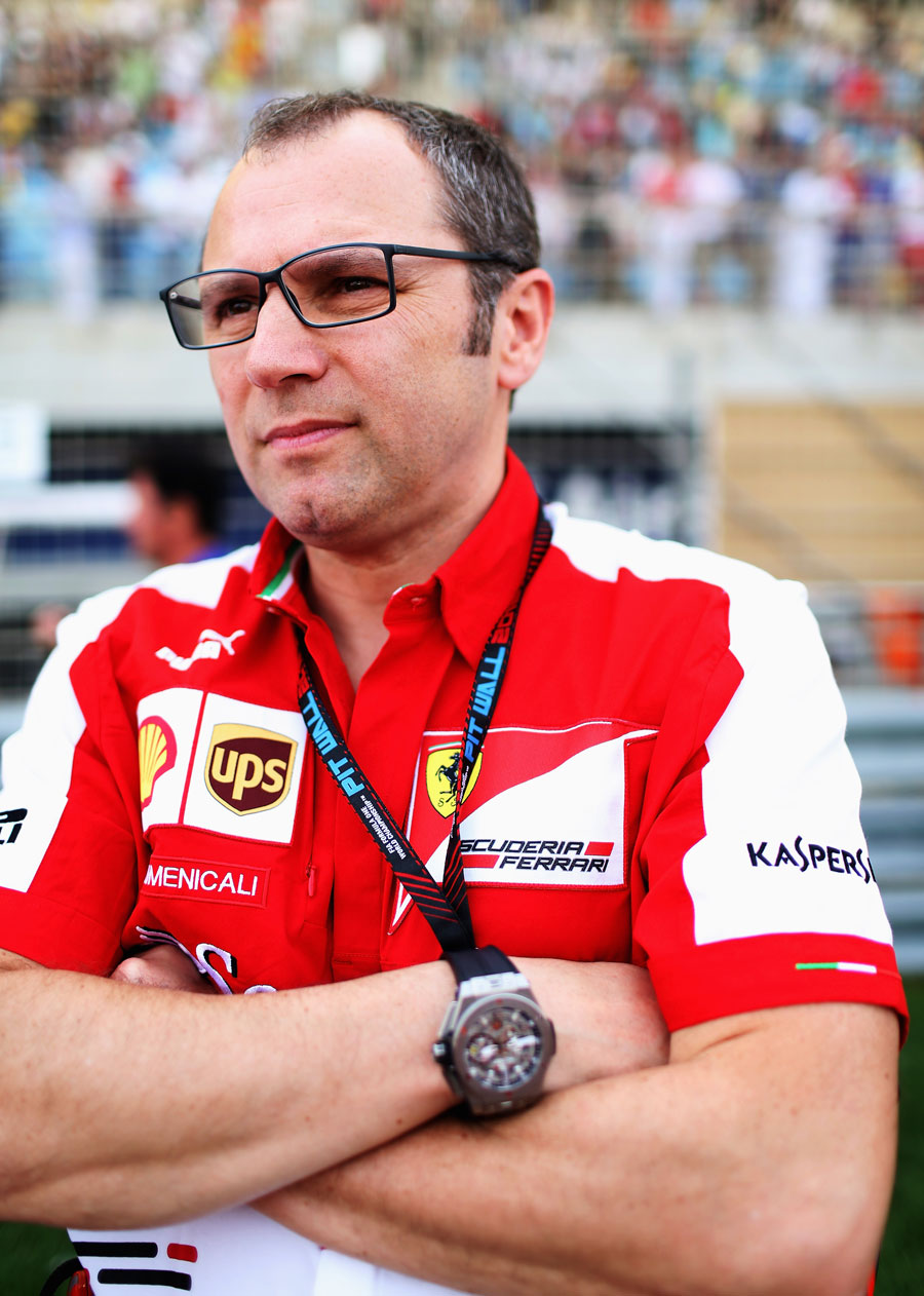 Stefano Domenicali waits patiently on the grid