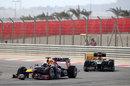 Sebastian Vettel leads Kimi Raikkonen