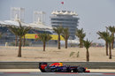 Mark Webber on track on the medium tyre