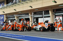 Paul di Resta makes a pit stop