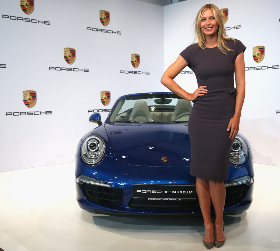 Maria Sharapova who was  unveiled as car manufacturer Porsche's new brand ambassador at the Porsche Museum