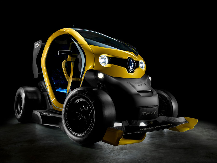 The Twizy Renault Sport F1 concept car with F1 KERS technology