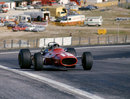 Chris Amon on track in his Ferrari