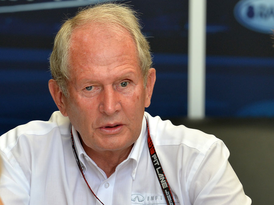 Helmut Marko in the Red Bull hospitality suite
