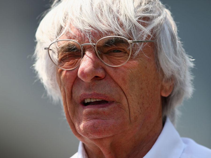 Bernie Ecclestone in the Shanghai paddock