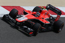 Rodolfo Gonzalez on track in the Marussia