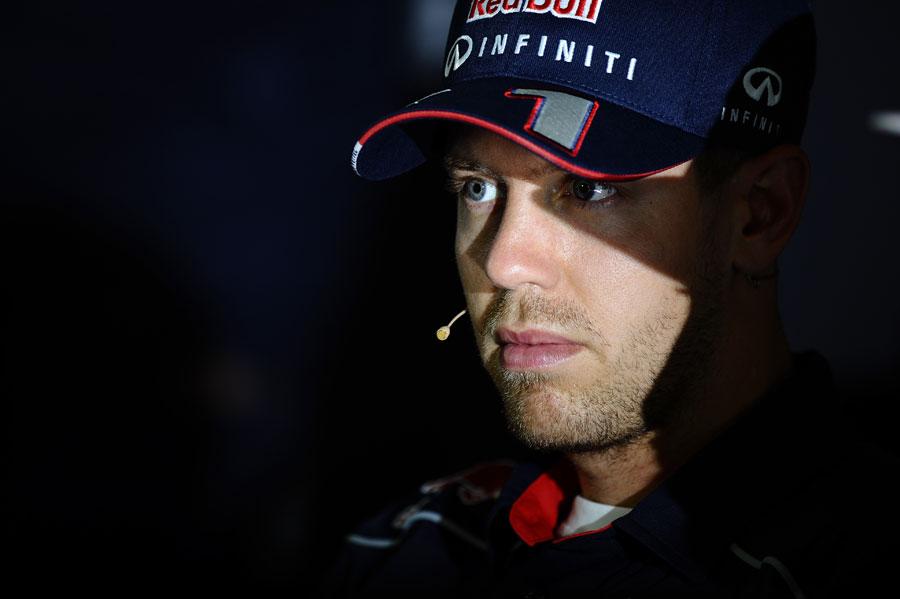 Sebastian Vettel in the press conference
