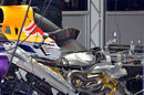 A rare glimpse under the engine cover of the Red Bull RB9