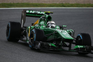 Giedo van der Garde on track in the modified Caterham