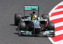 Nico Rosberg aims for an apex