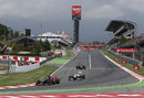 Jean-Eric Vergne leads Paul di Resta through turn one