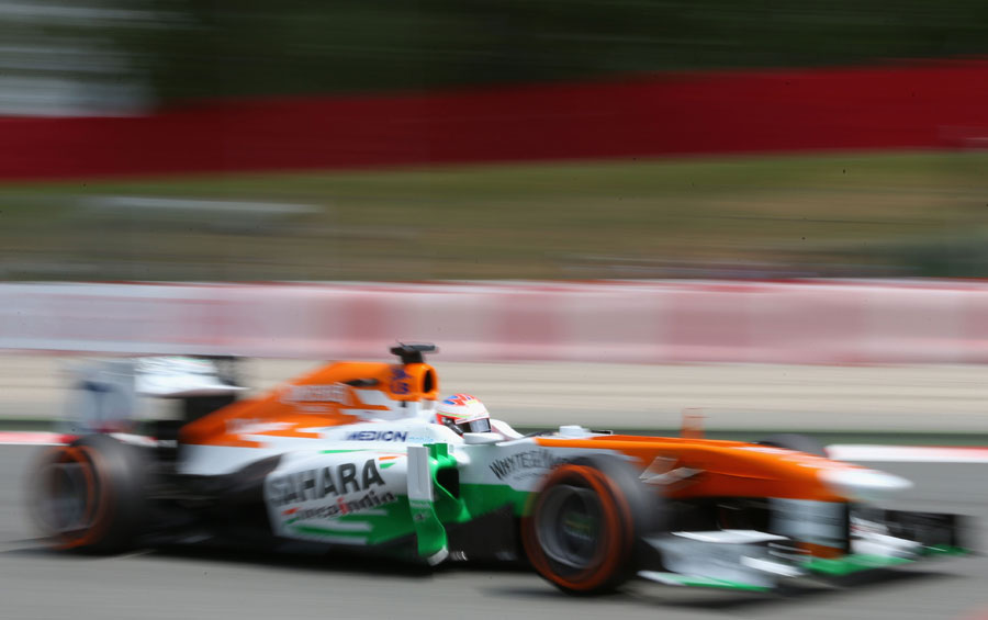 Paul di Resta at speed in the Force India
