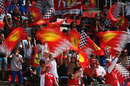 Ferrari fans show their support for Fernando Alonso