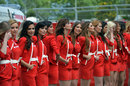 Grid girls prepare for a support race