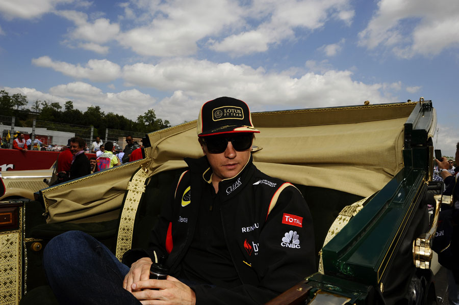 Kimi Raikkonen on the drivers' parade