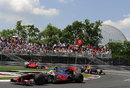 Lewis Hamilton leads Sebastian Vettel and Fernando Alonso