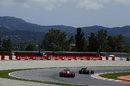 Fernando Alonso chases down Kimi Raikkonen