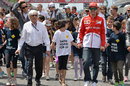 Bernie Ecclestone and Fernando Alonso supporting an FIA initiative