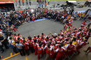 Ferrari's post-race celebrations in the pit lane