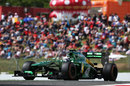 Giedo van der Garde on track in the Caterham