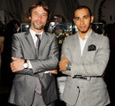 Musician Jay Kay and Lewis Hamilton at the 'For The Love Of Cinema' event in Antibes