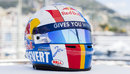 Jean-Eric Vergne's special Monaco helmet in the style of Francois Cevert's