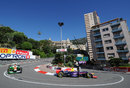 Mark Webber rounds the hairpin ahead of Adrian Sutil