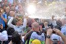 Nico Rosberg celebrates his victory