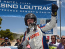Robert Kubica celebrates his first WRC2 victory