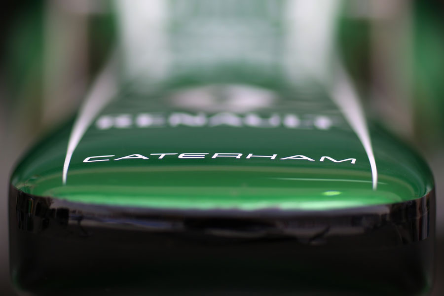 A Caterham nose in the garage